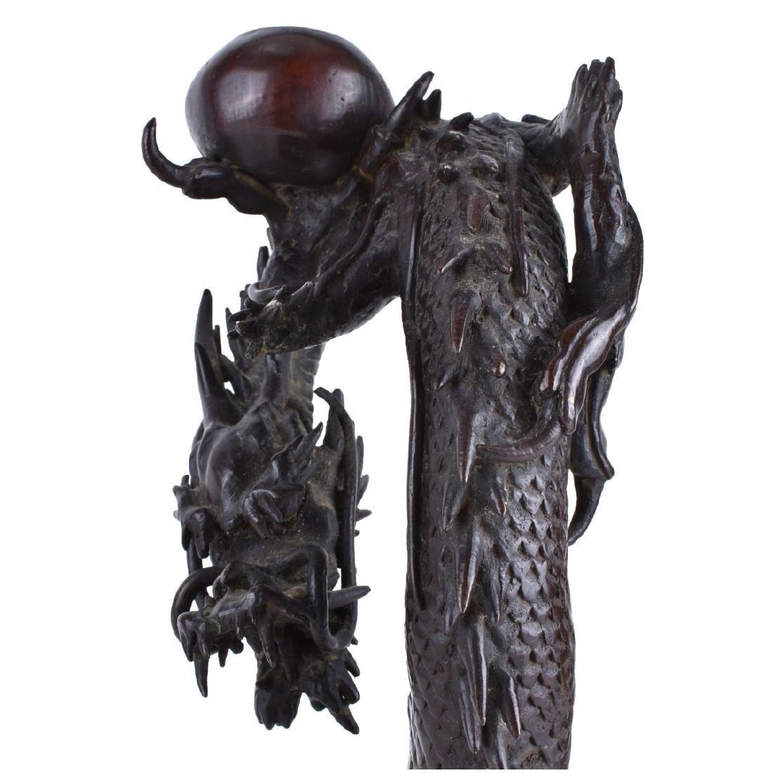 Chinese Bronze Dragon Candlesticks - 5