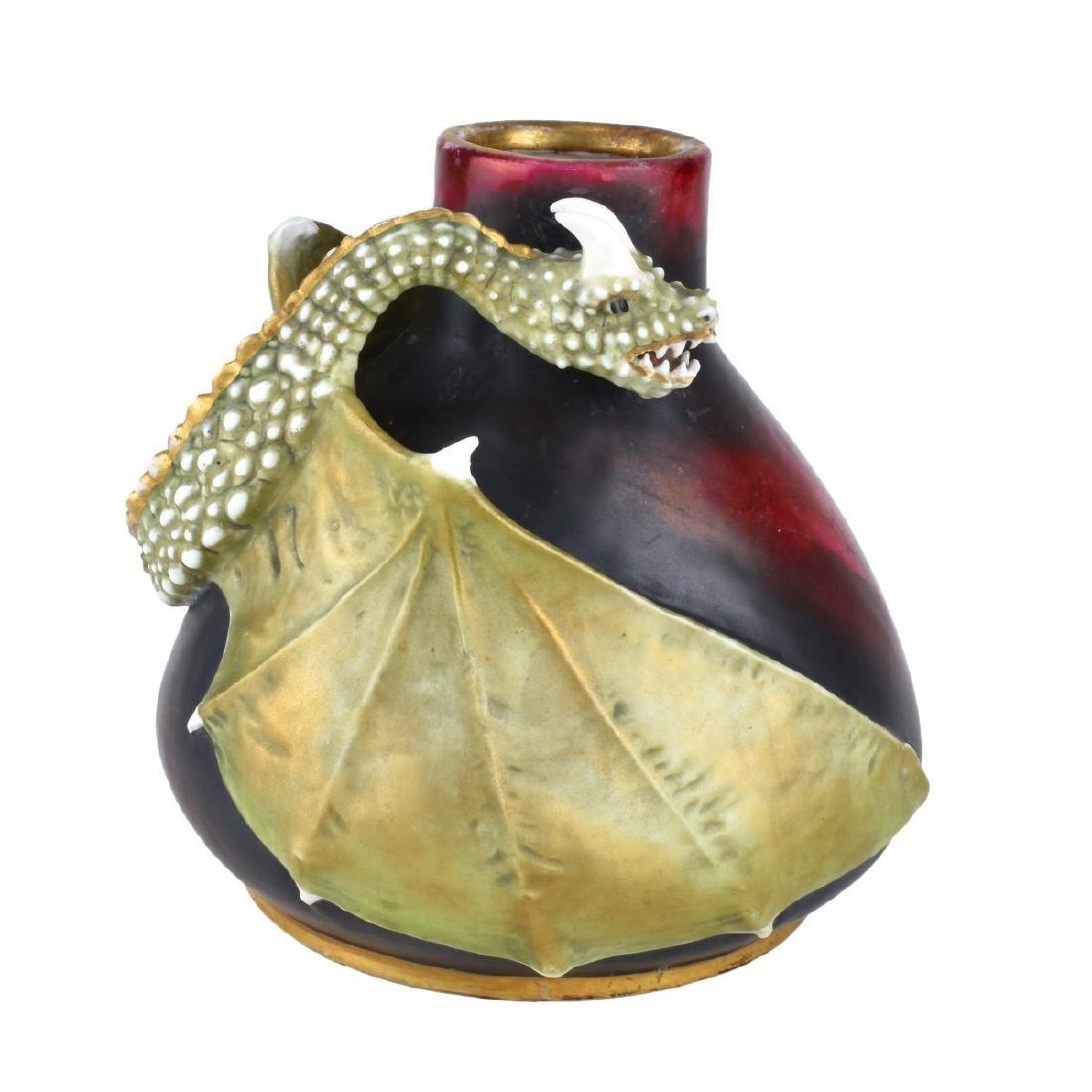 Turn Teplitz Amphora Dragon Vase