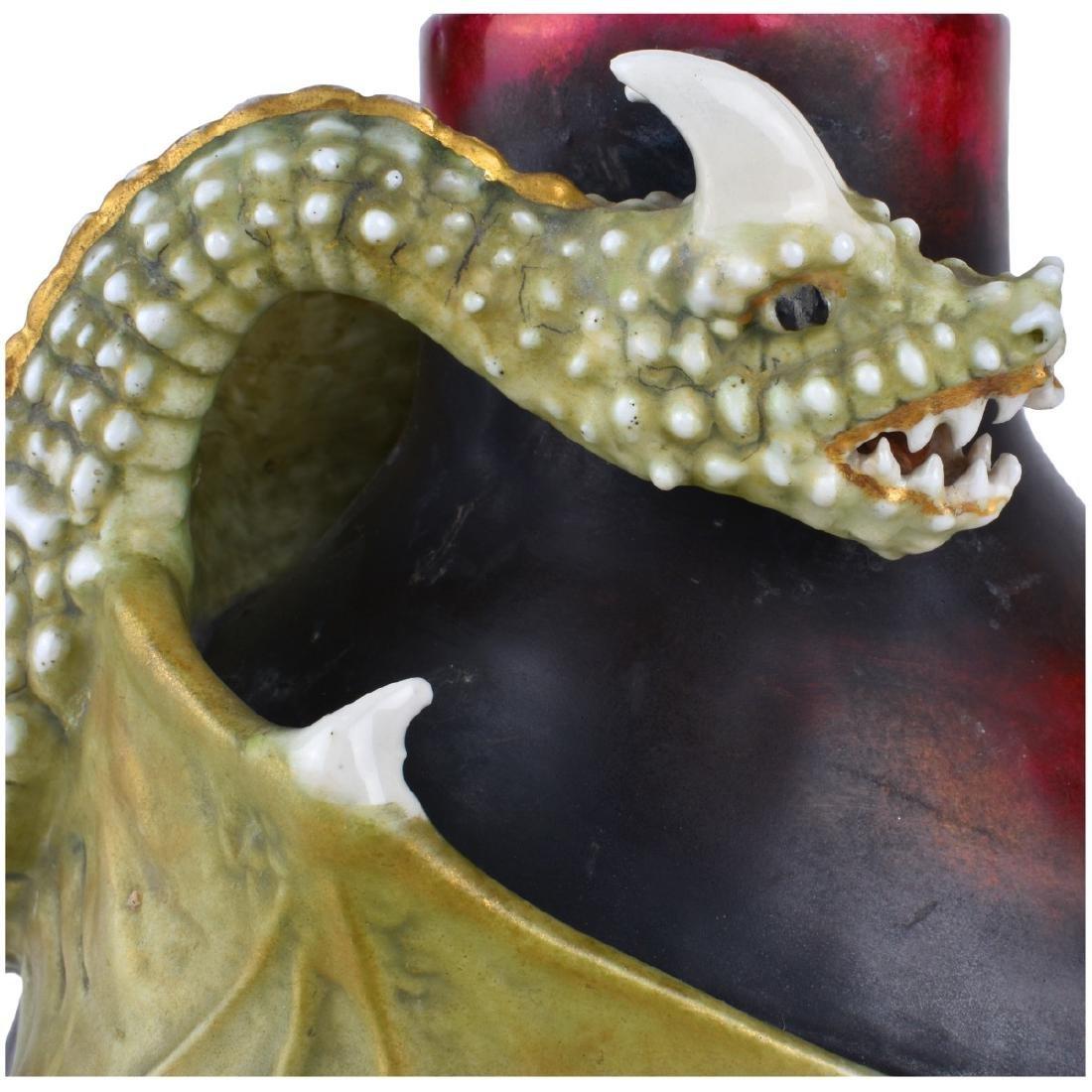 Turn Teplitz Amphora Dragon Vase - 5