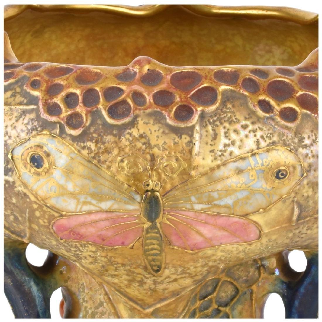 Amphora Pottery Spider Web Vase - 3