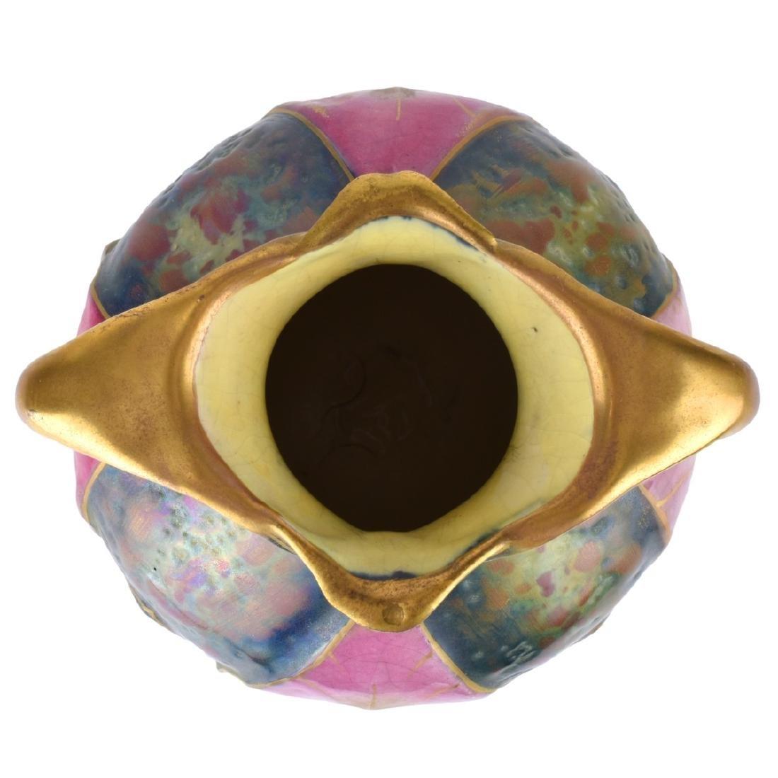 Paul Dachsel Amphora Art Nouveau Leaf Vase - 4