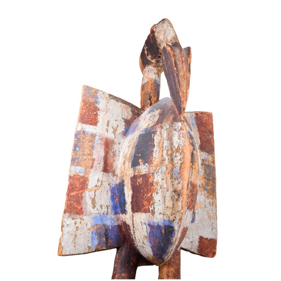 African Senufo Hornbill Bird Figure - 3