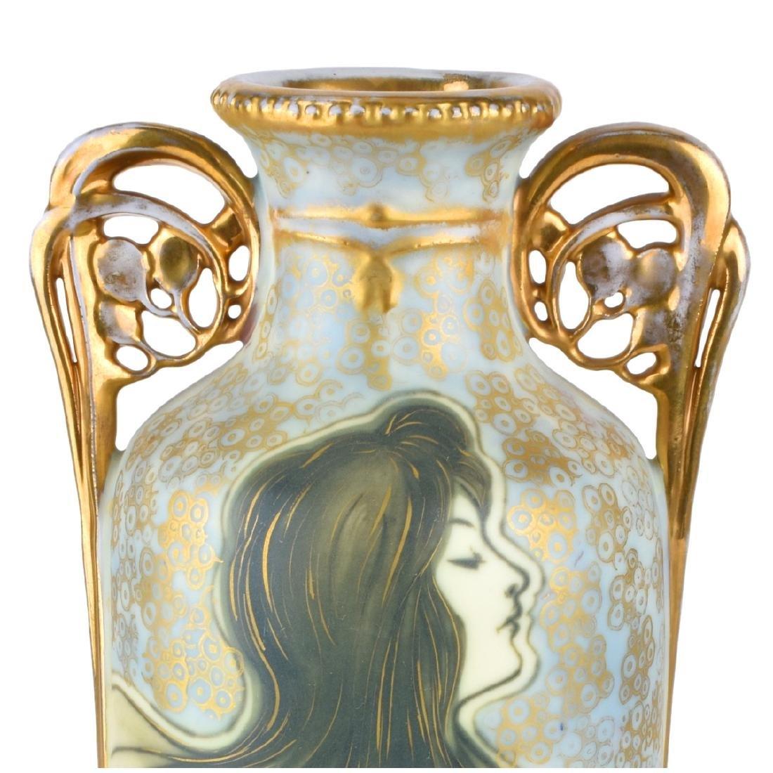Turn Teplitz Vase with Maidens - 2