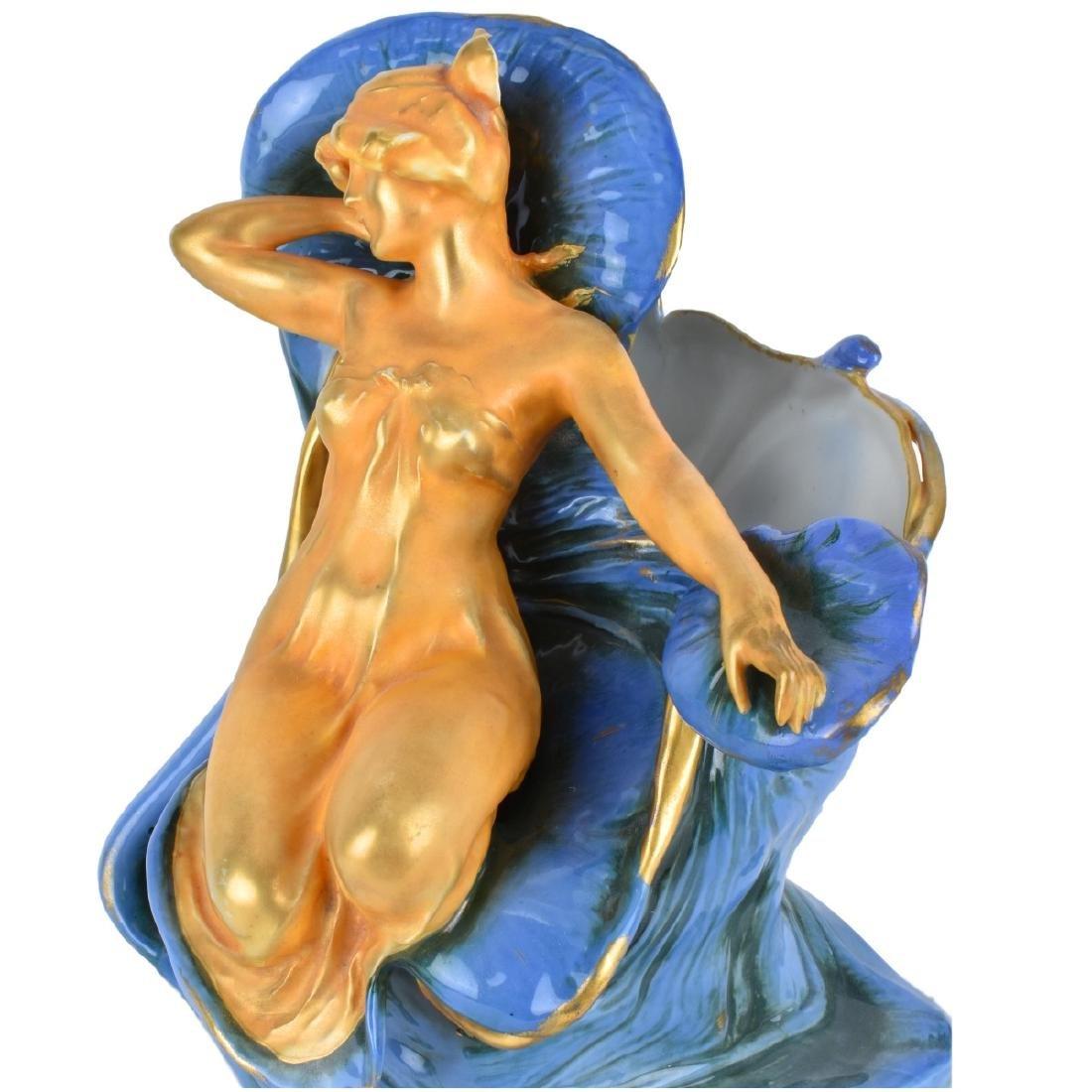 Turn Teplitz Amphora Porcelain Figural Vase - 2