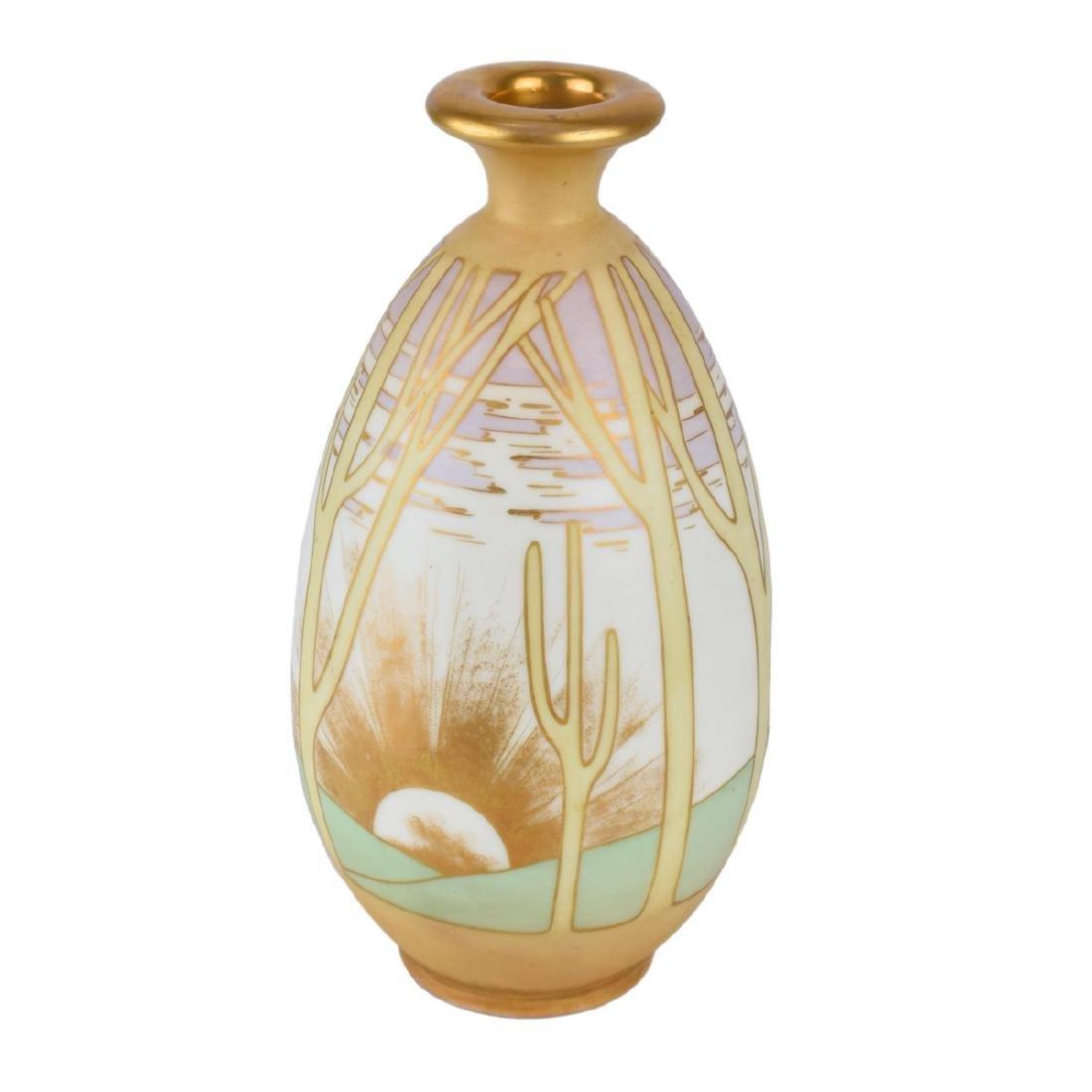 Turn Teplitz Amphora Pottery Vase - 4