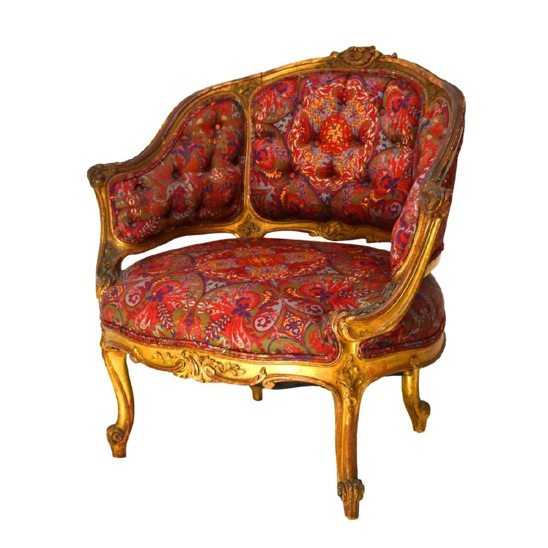 19th Century Louis XVI Style Bergere Chair