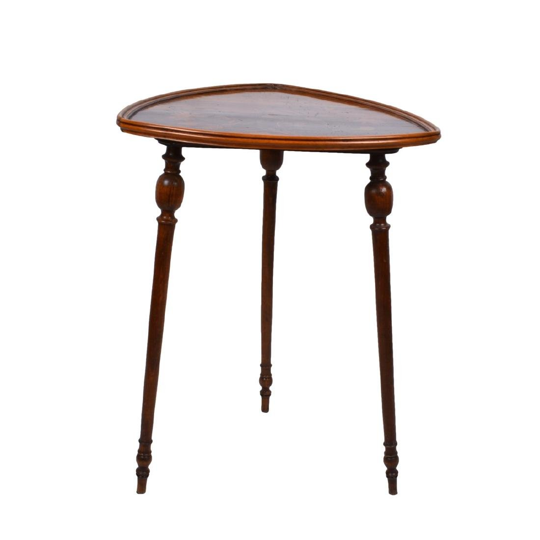 Emile Galle Marquetry Inlaid Side Table