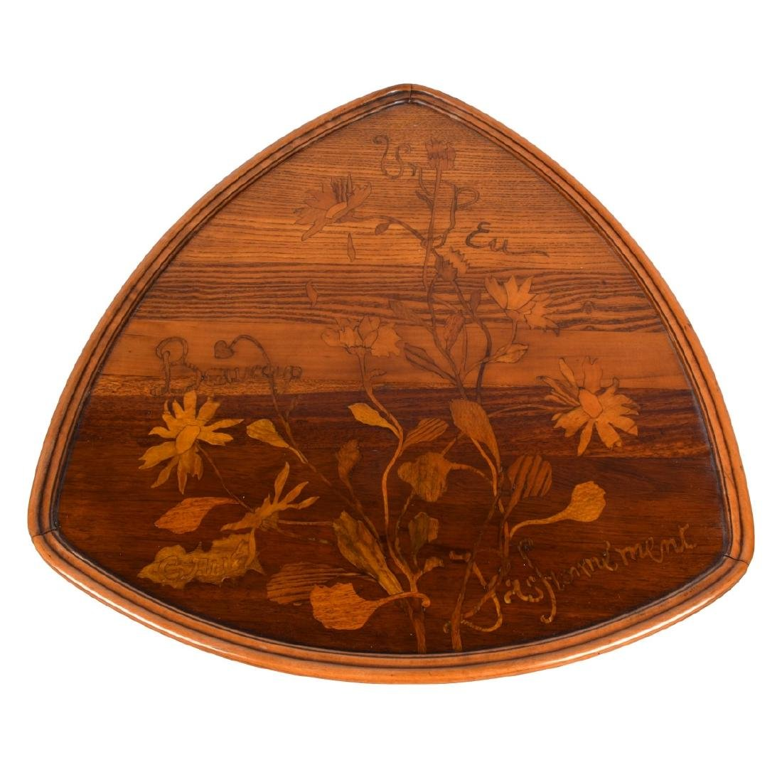 Emile Galle Marquetry Inlaid Side Table - 2
