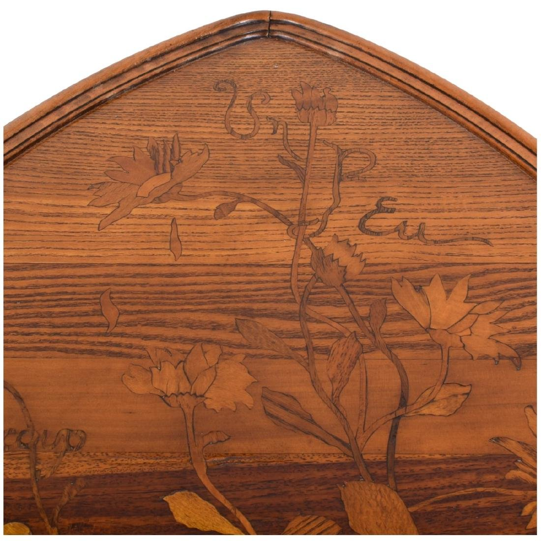 Emile Galle Marquetry Inlaid Side Table - 4