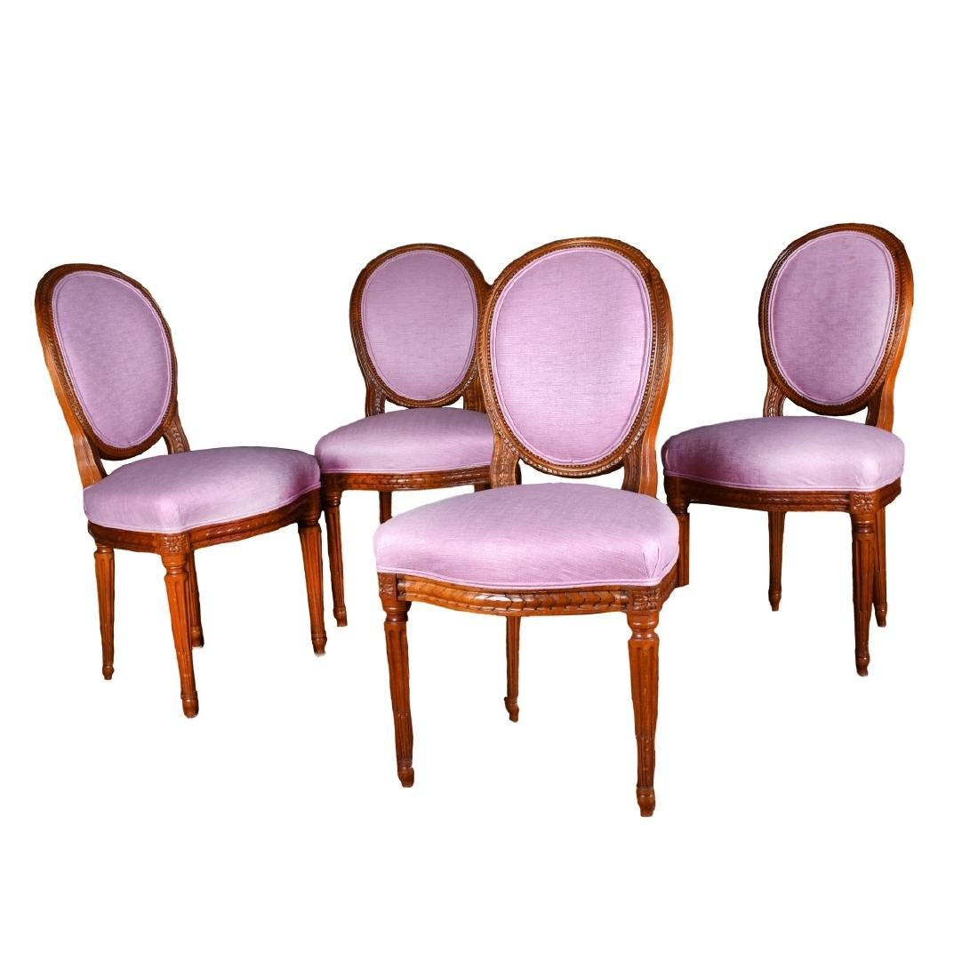 Four (4) French Louis XVI Style Side Chairs