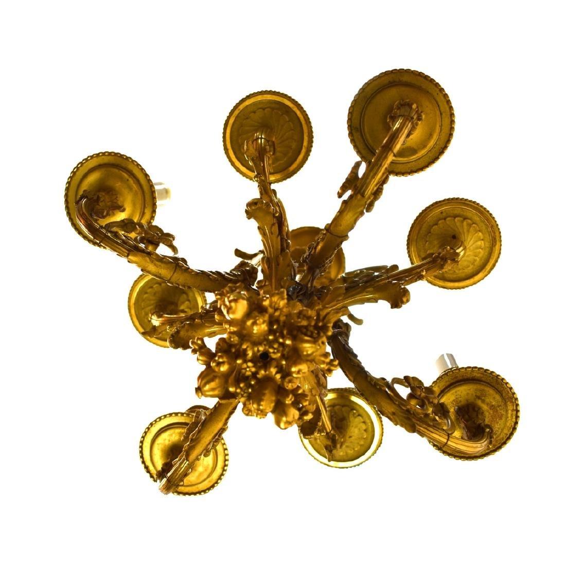 19th Century French Gilt Bronze Chandelier - 3