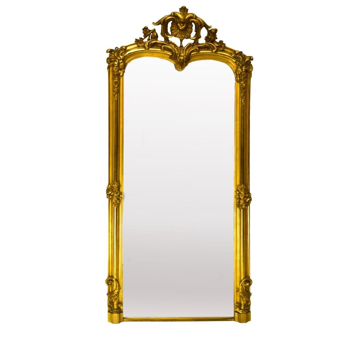 Large Antique French Gilded Mirror