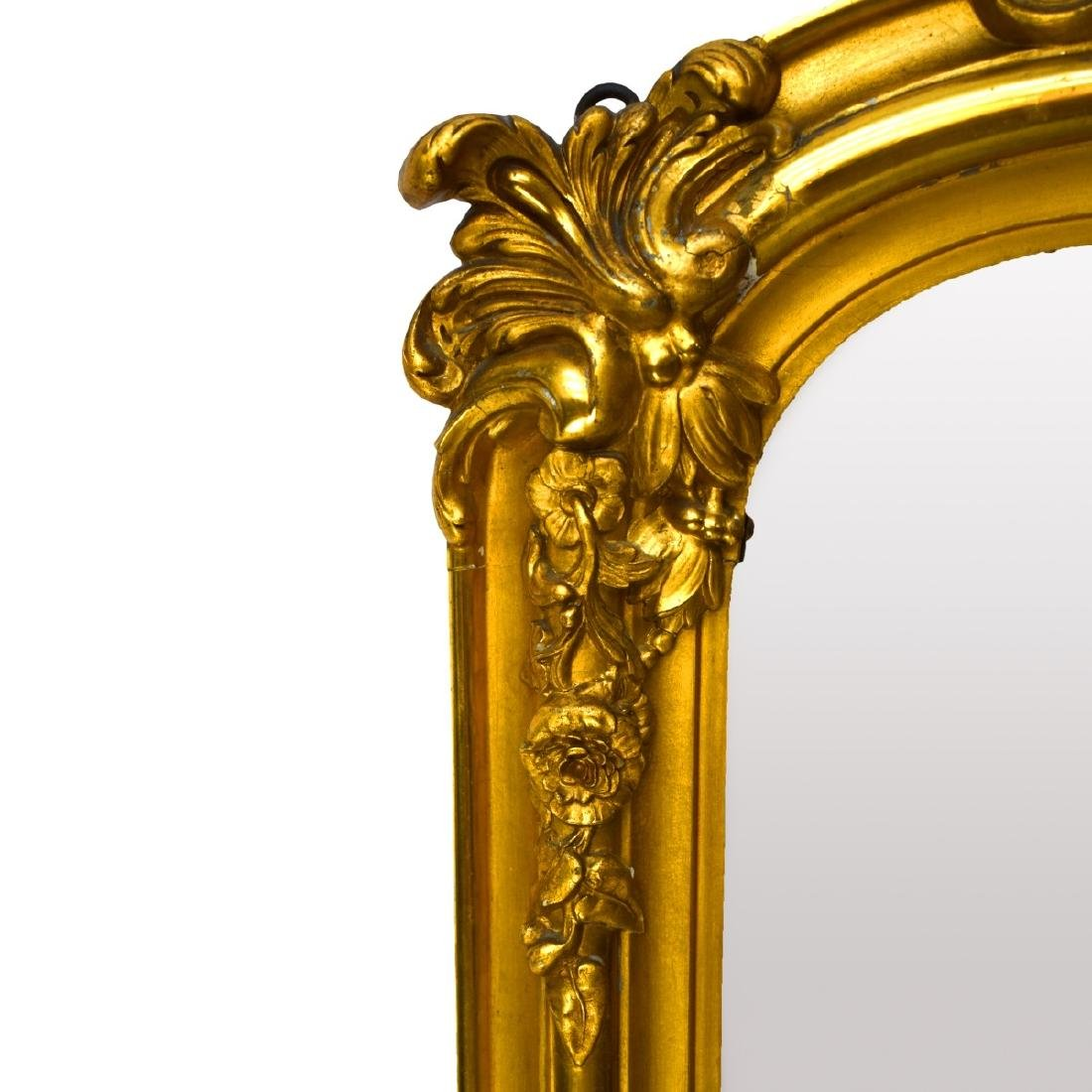 Large Antique French Gilded Mirror - 2
