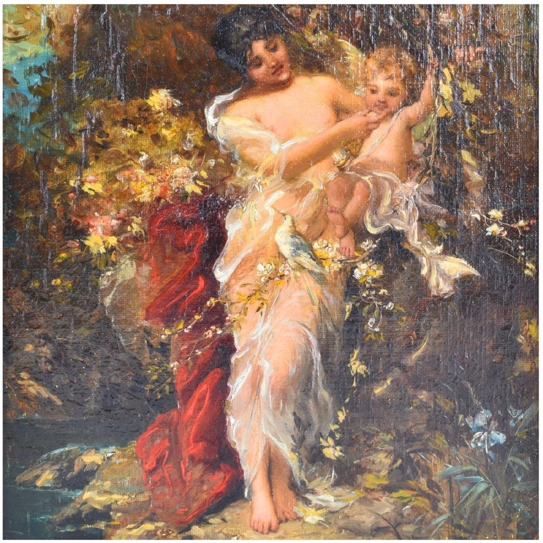 "19/20th Century Oil on Canvas ""Psyche"" - 3"