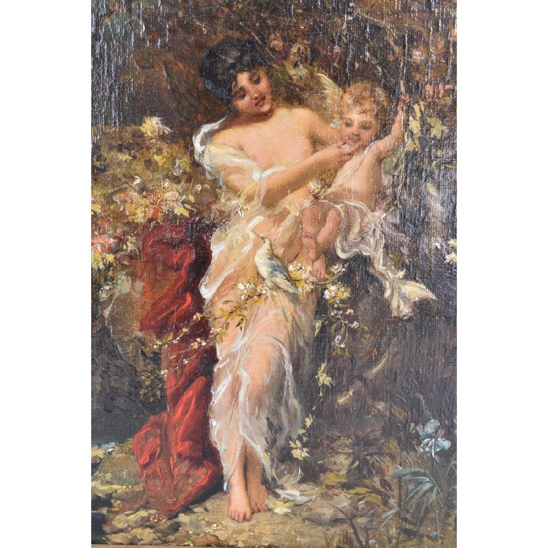 "19/20th Century Oil on Canvas ""Psyche"" - 4"