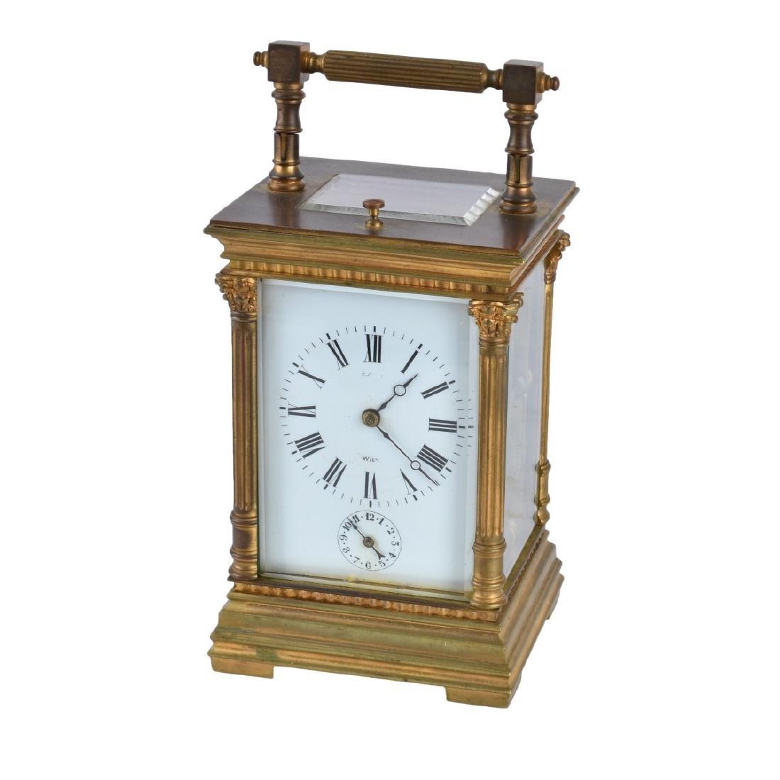 Antique Gilt Brass Carriage Clock