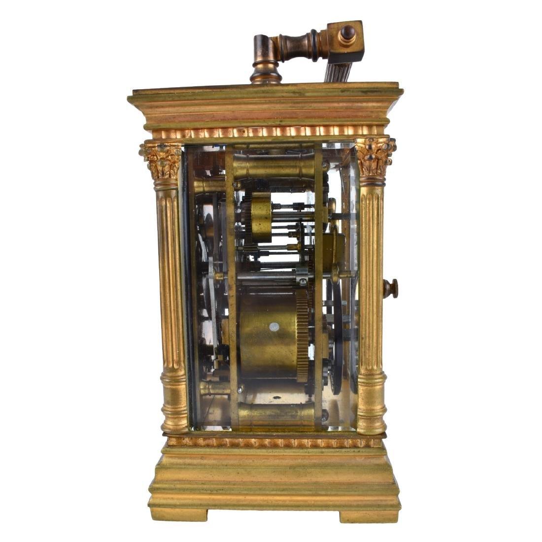 Antique Gilt Brass Carriage Clock - 3