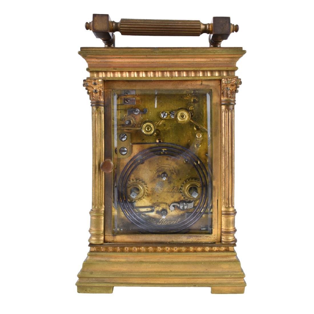 Antique Gilt Brass Carriage Clock - 4