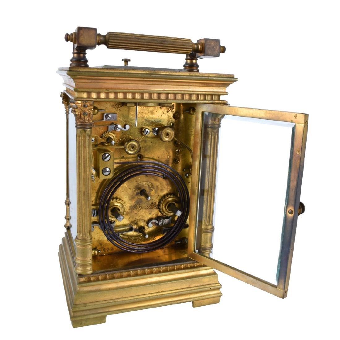 Antique Gilt Brass Carriage Clock - 5