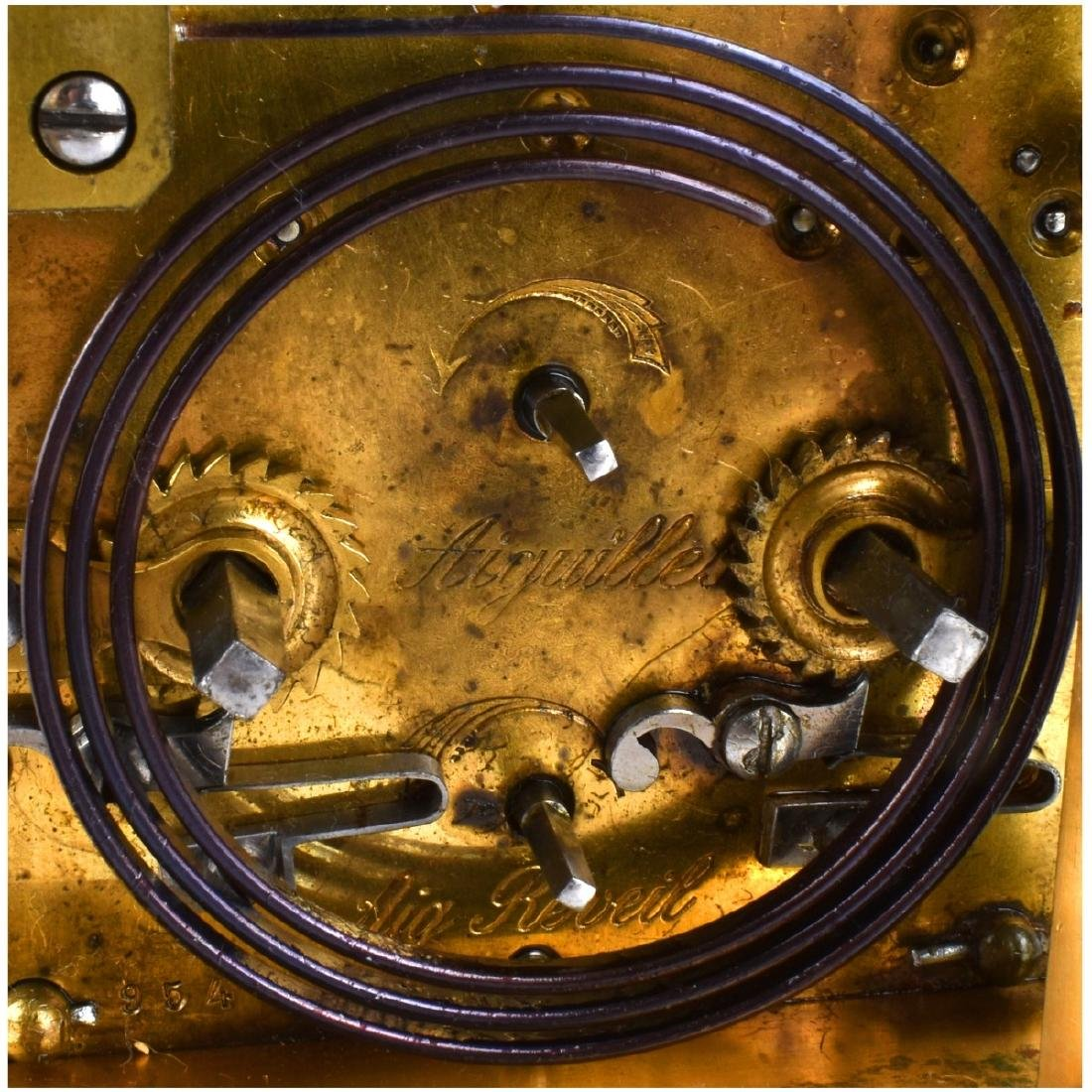 Antique Gilt Brass Carriage Clock - 6