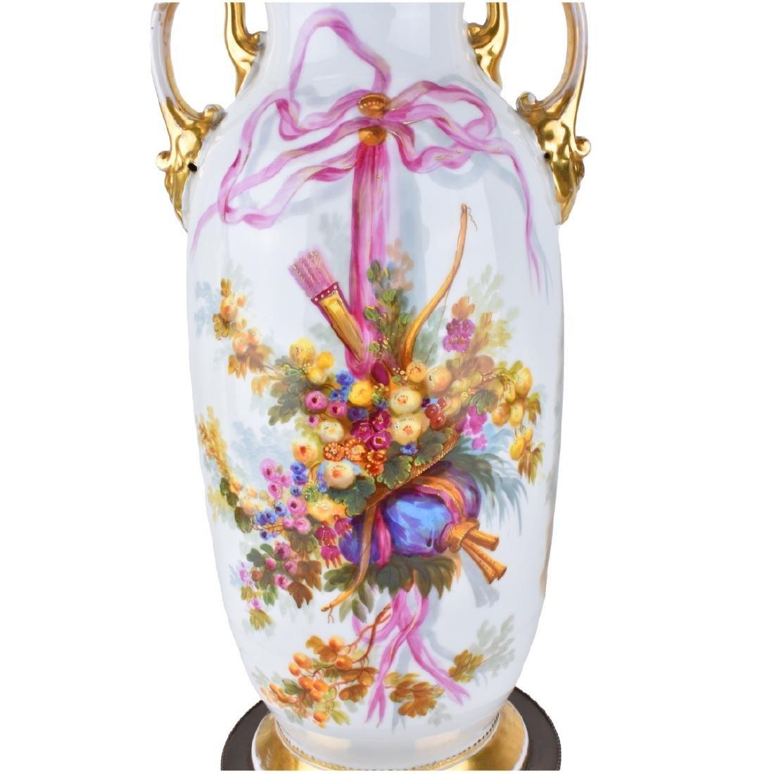 Old Paris Porcelain Vases as Lamps - 4