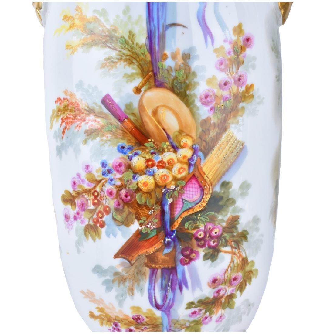 Old Paris Porcelain Vases as Lamps - 8