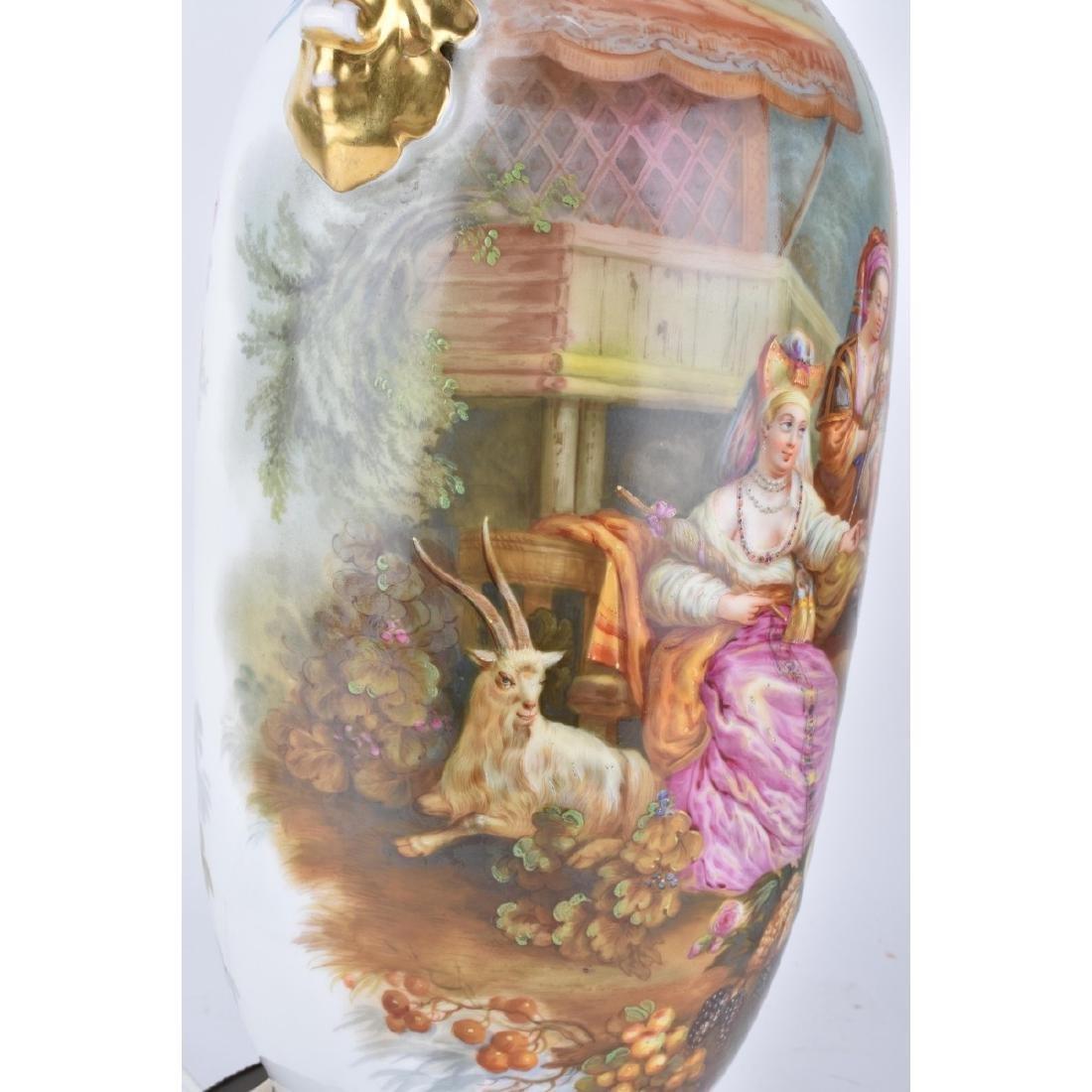 Old Paris Porcelain Vases as Lamps - 9