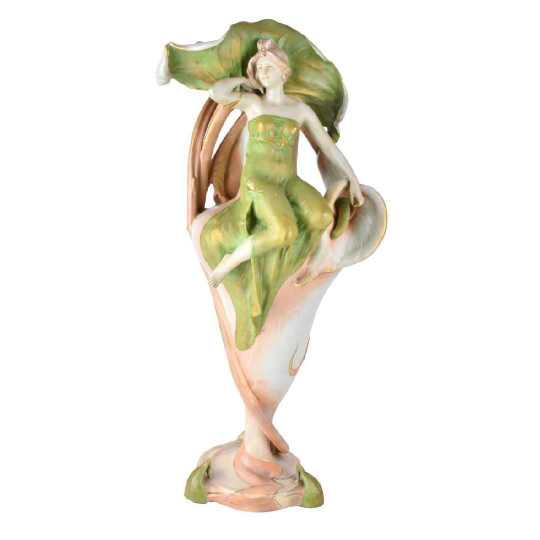 Amphora Porcelain Maiden Figural Vase