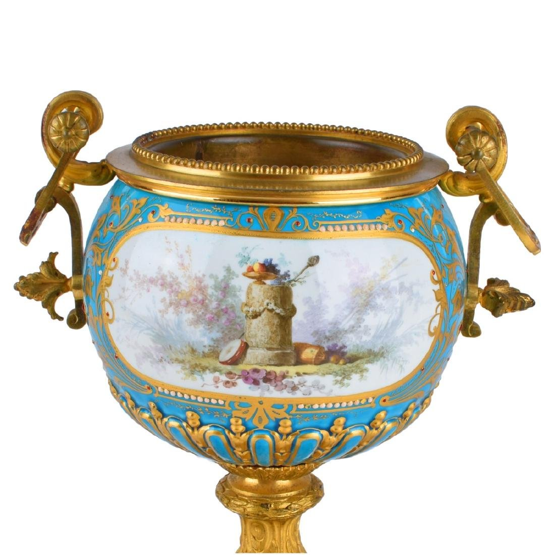 A Sevres syle Porcelain and Bronze Mounted Bowl - 2