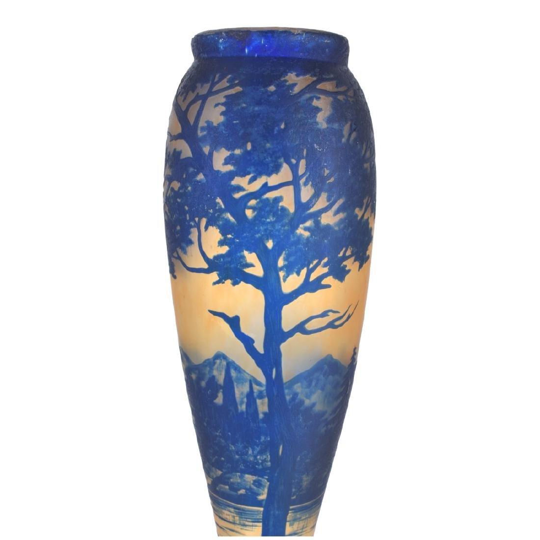 French Art Nouveau Cameo Glass Vase - 2