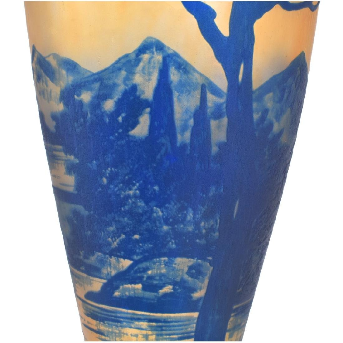 French Art Nouveau Cameo Glass Vase - 4