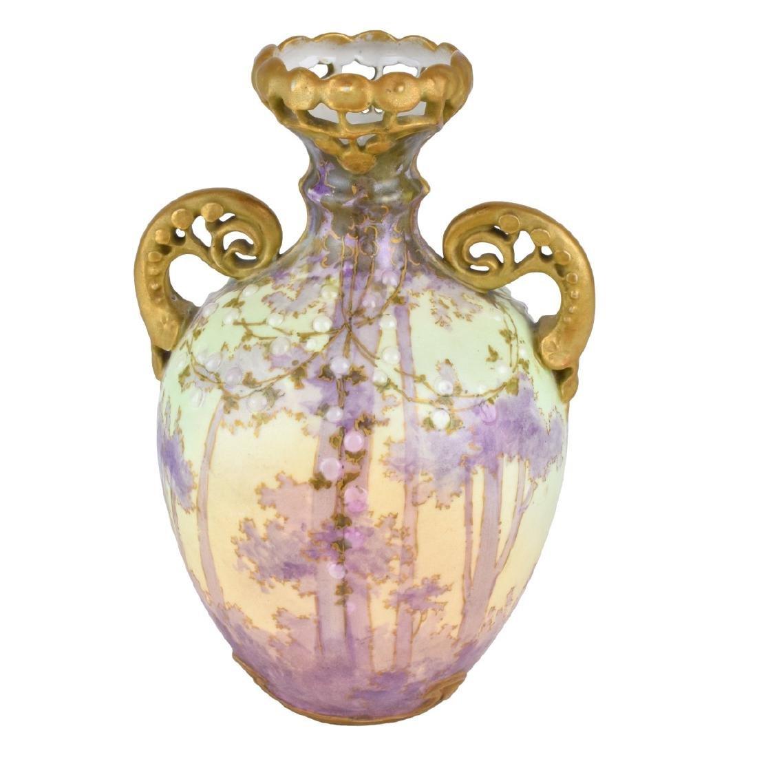 Amphora Art Nouveau Gres Bijoux Woodlands Vase