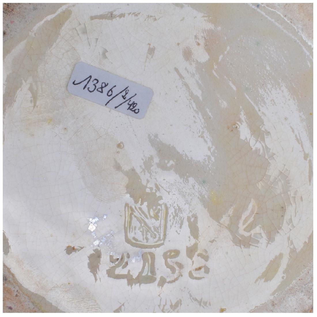 Large Majolica Glazed Porcelain Figural Vase - 5