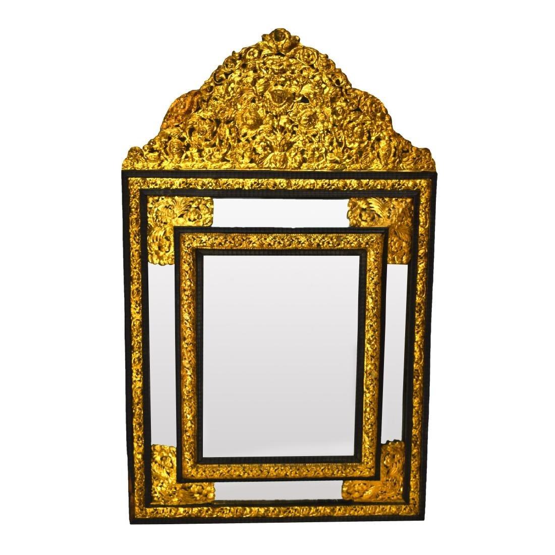 Large French Napoleon II Style Cushion Mirror