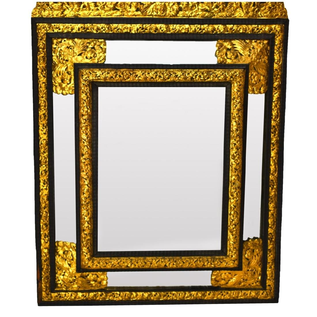 Large French Napoleon II Style Cushion Mirror - 2