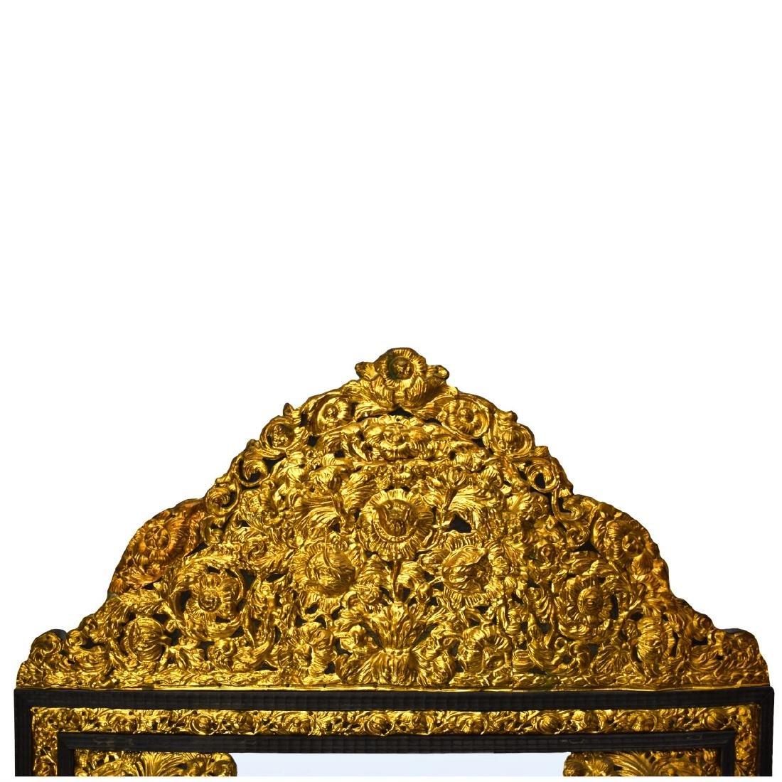 Large French Napoleon II Style Cushion Mirror - 3