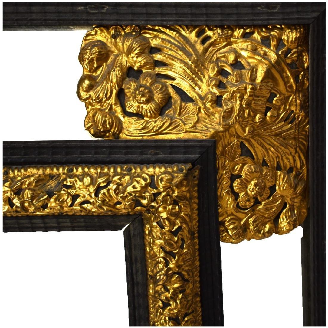 Large French Napoleon II Style Cushion Mirror - 4