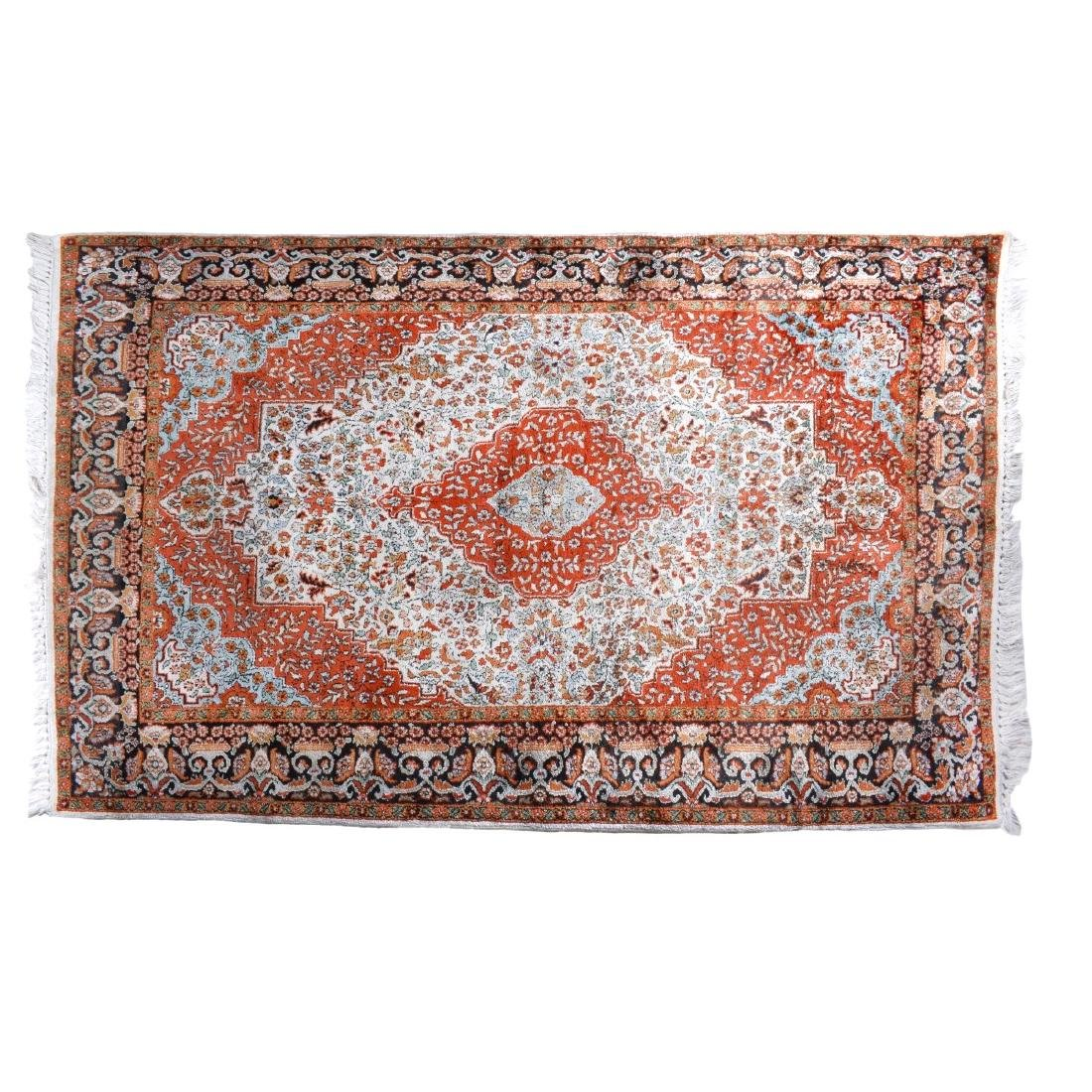 Semi Antique Persian Kashan Style Rug