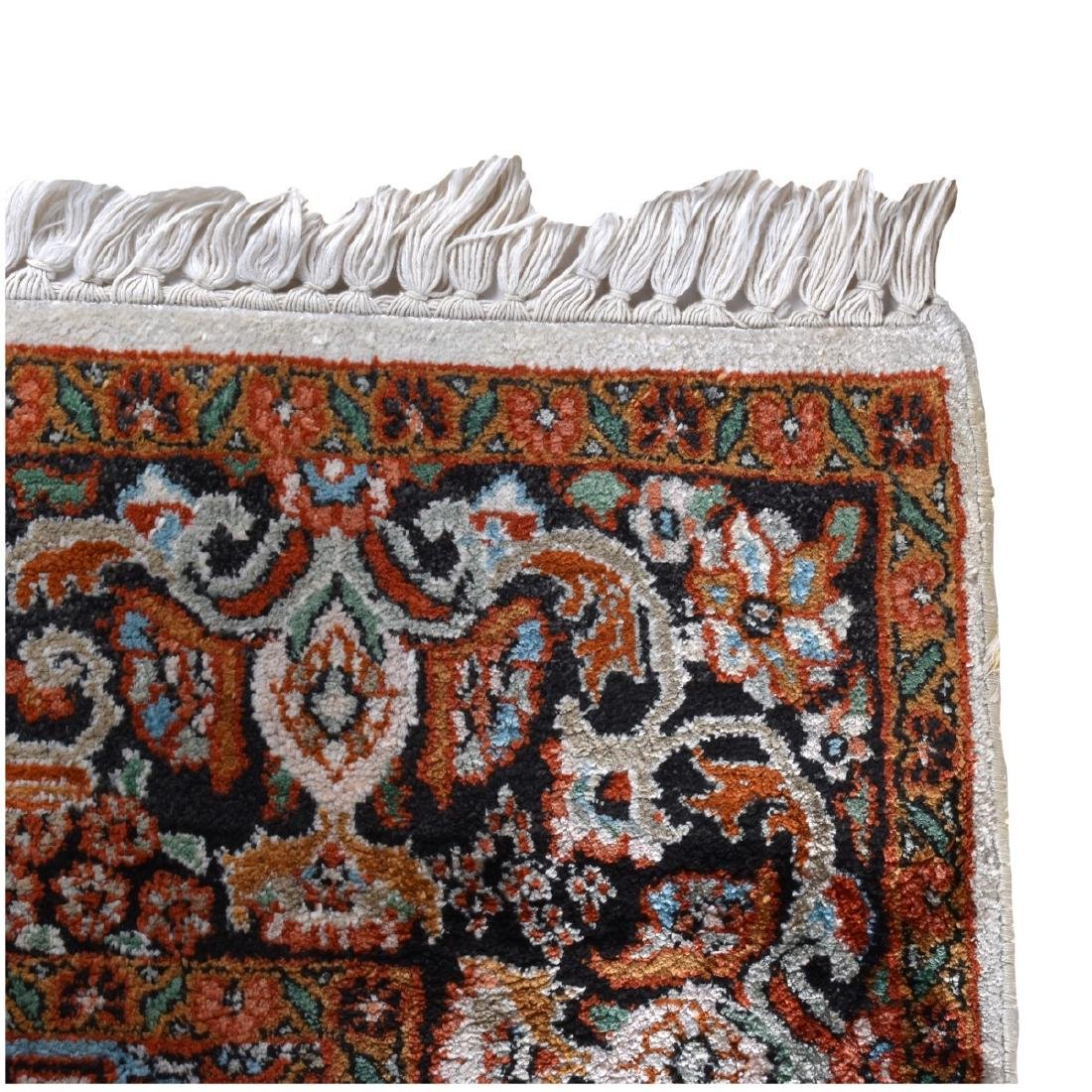 Semi Antique Persian Kashan Style Rug - 4