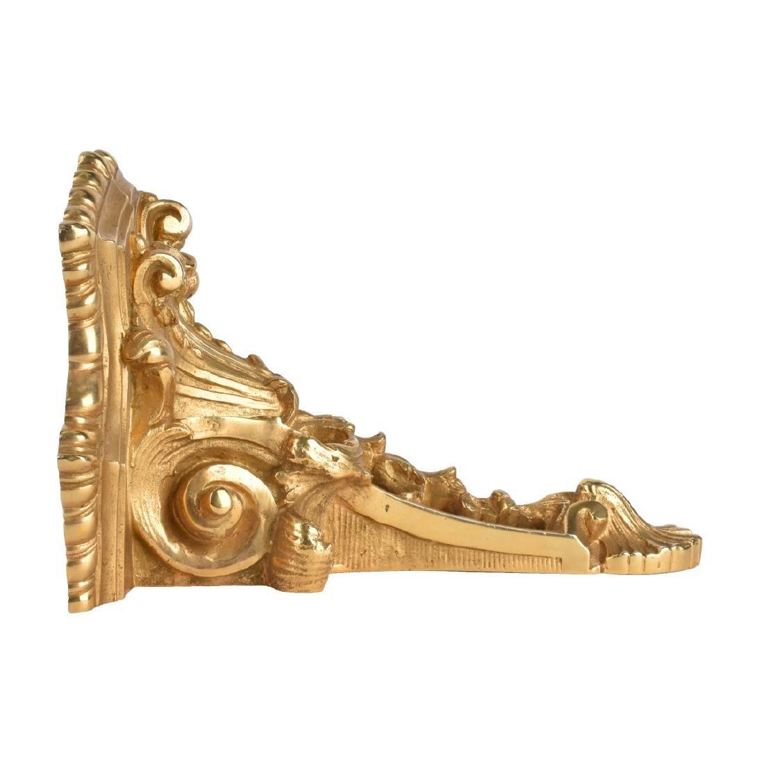 20th C. Louis XV Style Gilt Bronze Wall Bracket - 2
