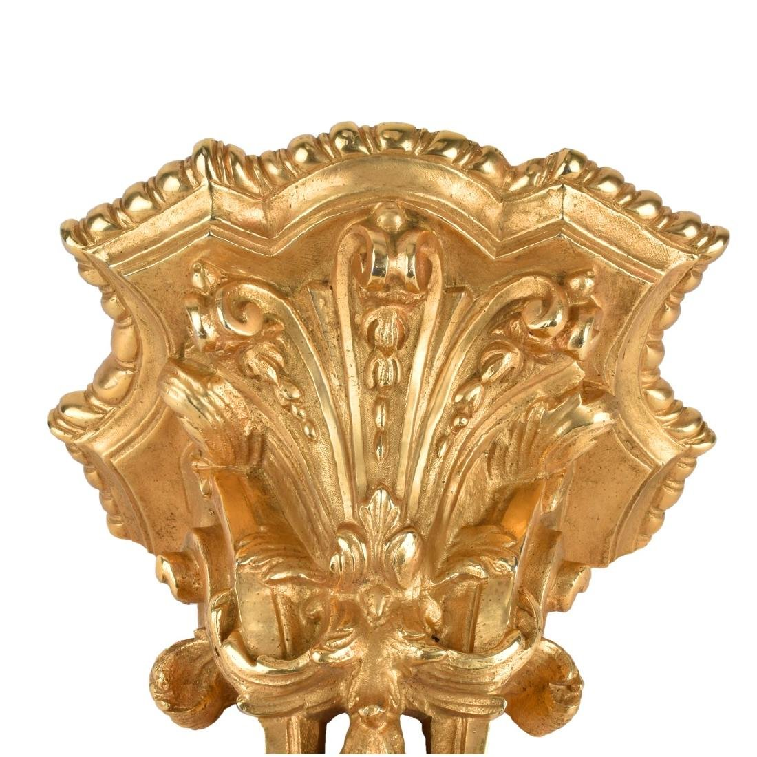 20th C. Louis XV Style Gilt Bronze Wall Bracket - 4