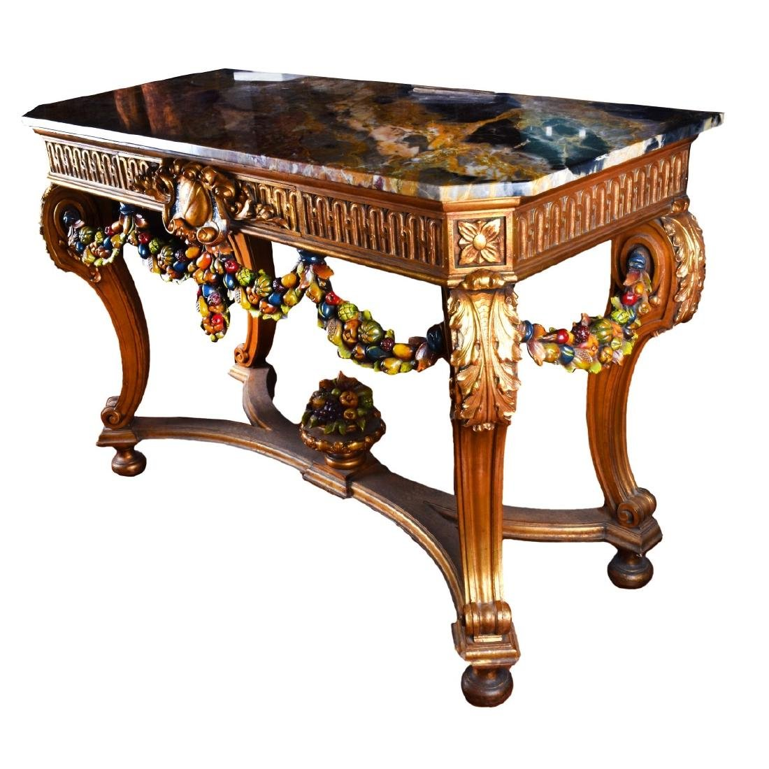 Italian Neoclassical Style Marble Top Console - 2
