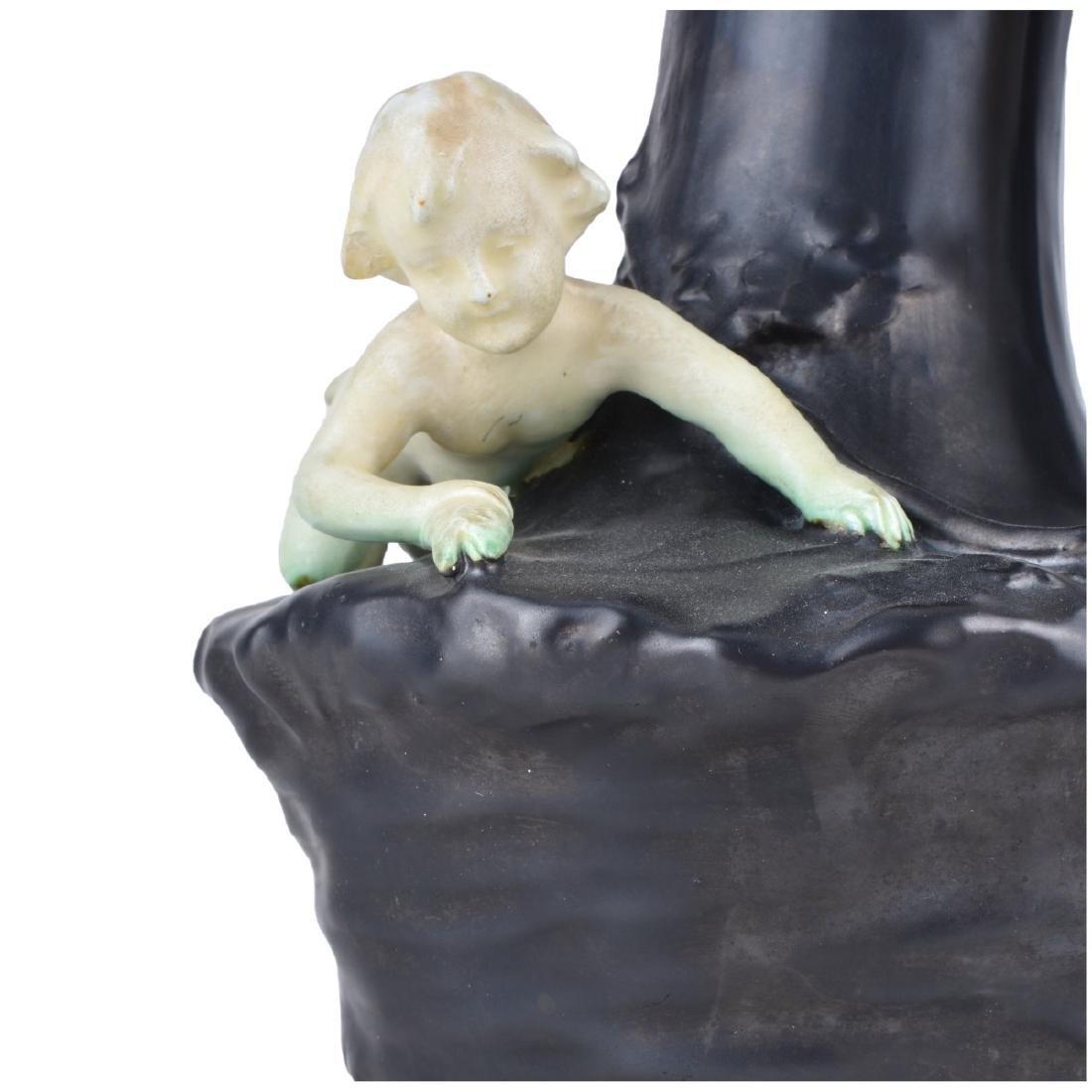Austrian Art Nouveau Figural Pottery Ewer. - 3