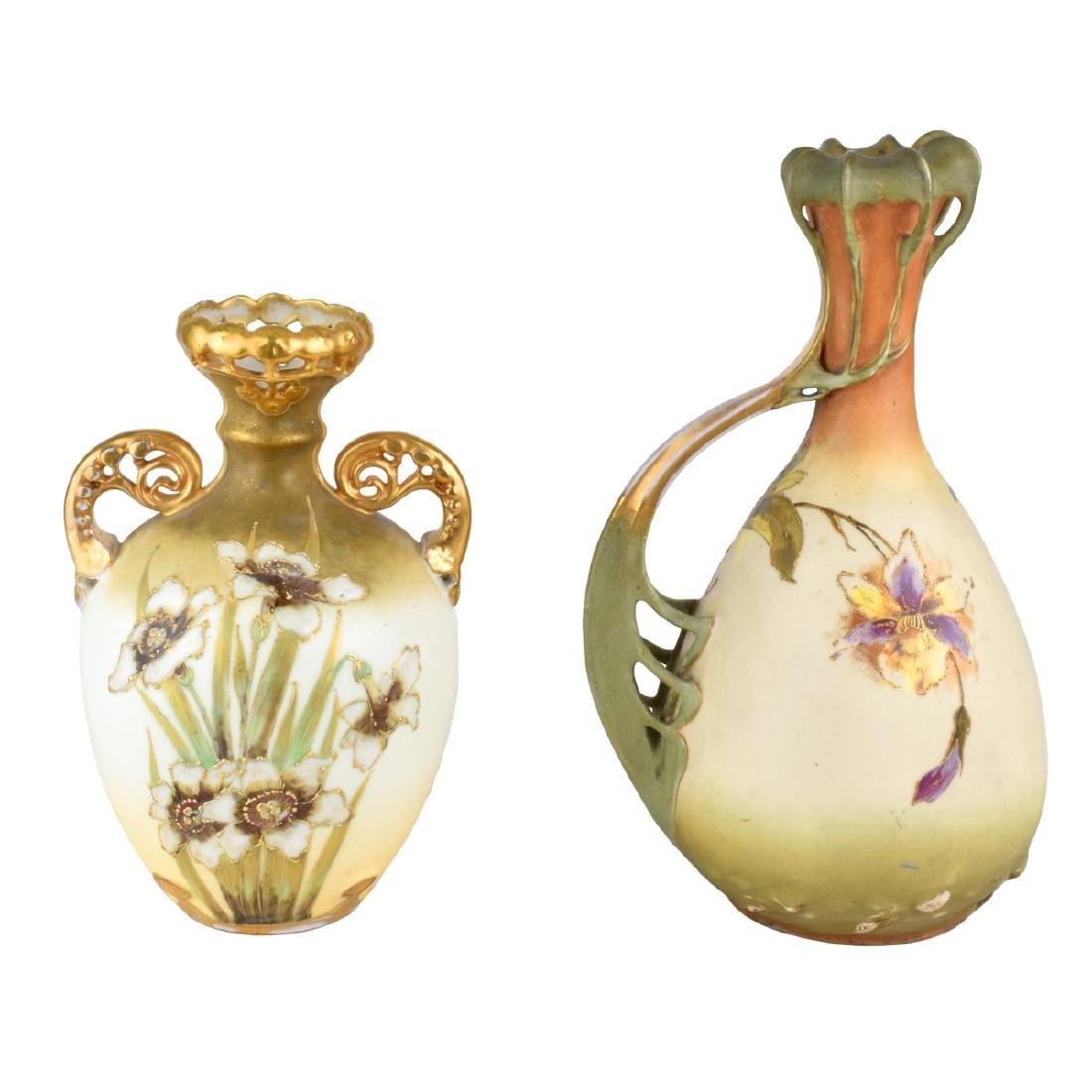 Turn Teplitz Pottery Ewer and Vase