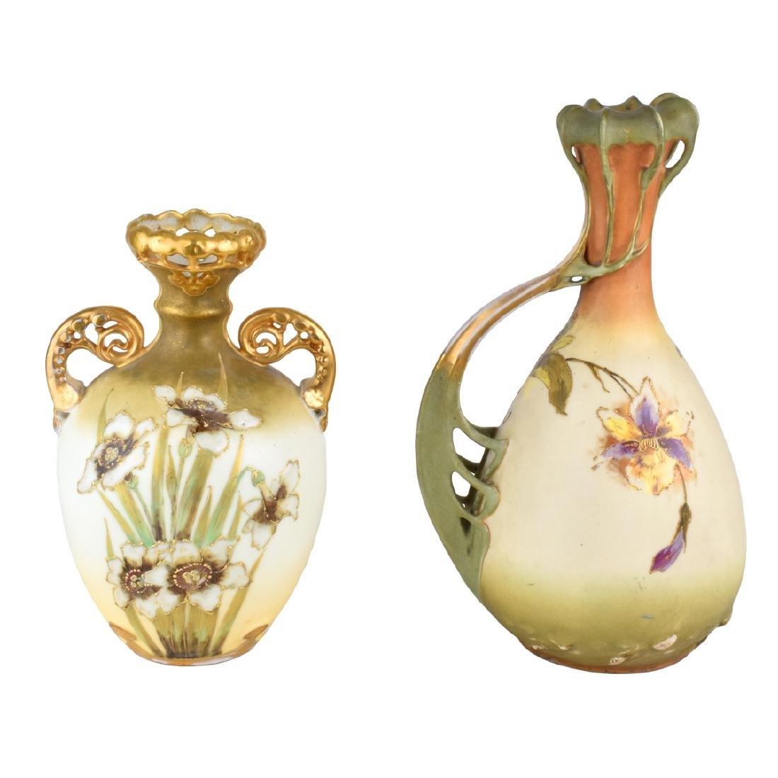 Turn Teplitz Pottery Ewer and Vase