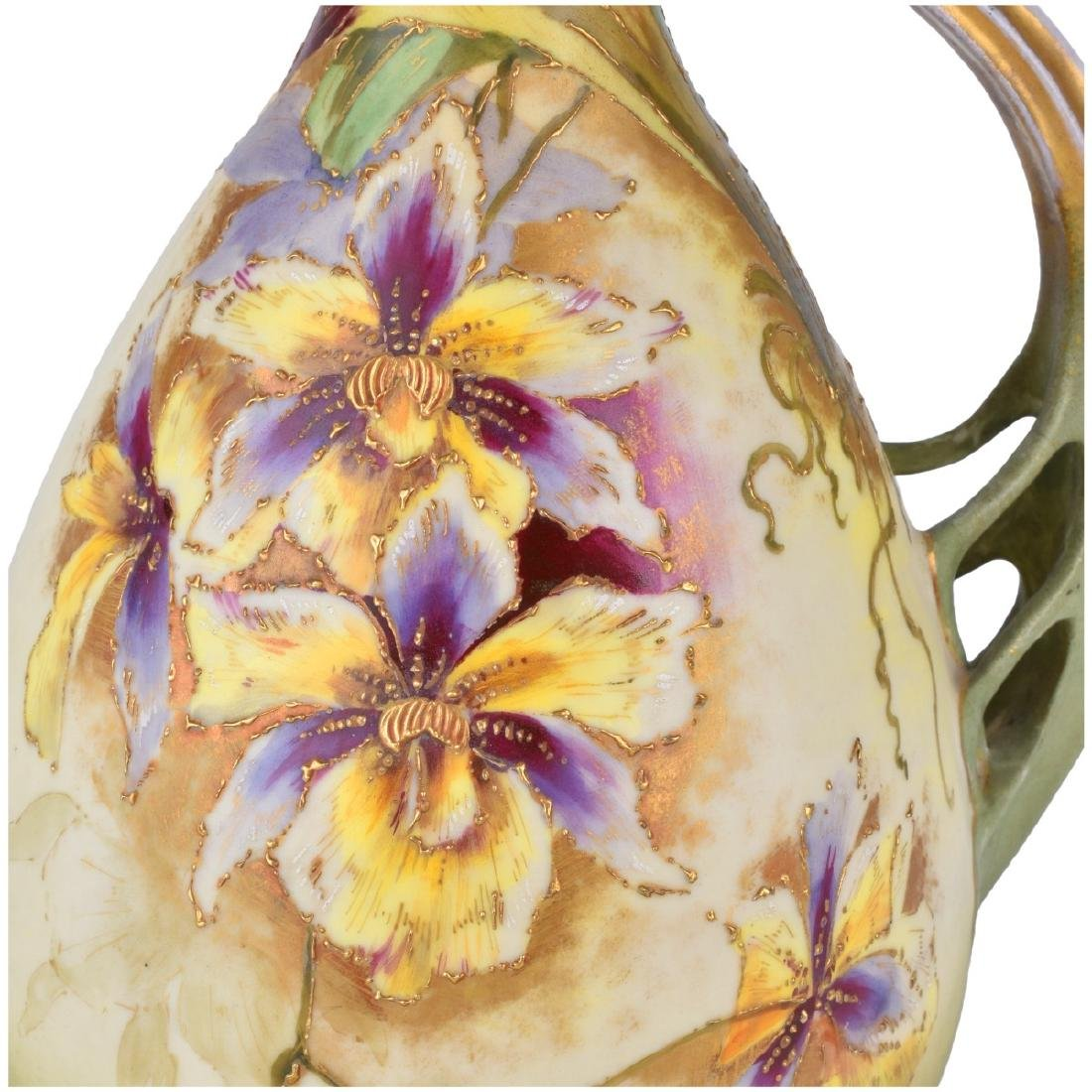 Turn Teplitz Pottery Ewer and Vase - 5