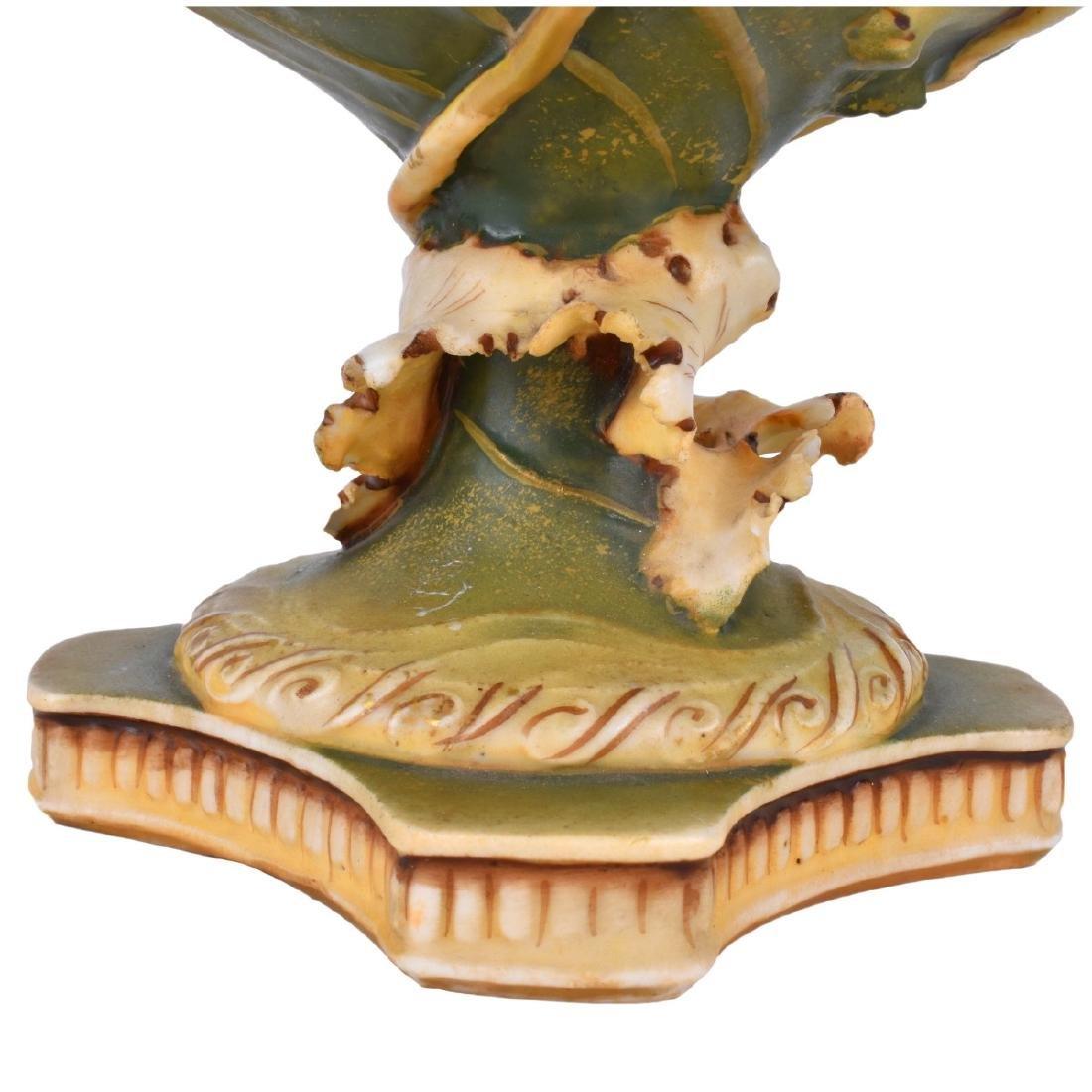Art Nouveau Austrian Pottery Vase - 5