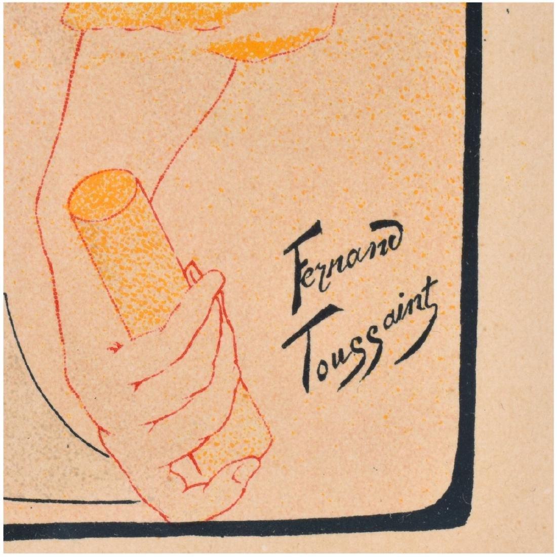 Fernand Toussaint (1873 - 1955) Lithograph - 4