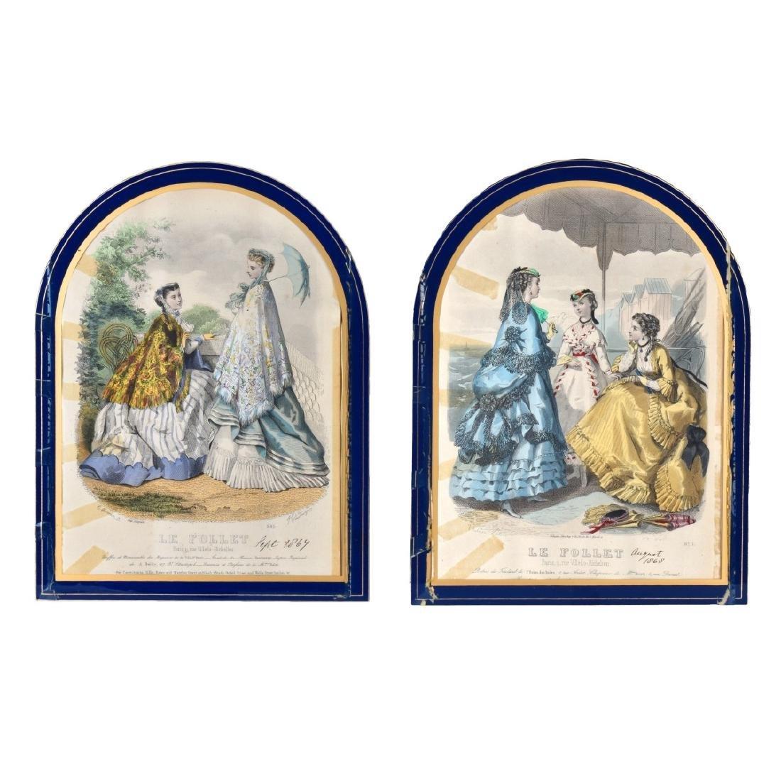 19th Century Le Follet Engravings
