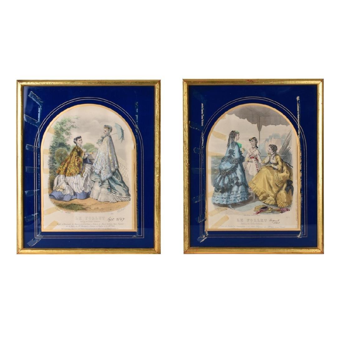 19th Century Le Follet Engravings - 2